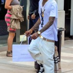 Passion For Fashion: Soulja Boy In A YSL Tee-Shirt, Burberry Belt & Scarf And Louis Vuitton Sunglasses & Sneakers