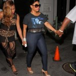 Miami Nightlife: Trina & Her Gold Christian Louboutin's Spotted At Club Amnesia
