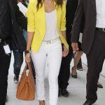 Celebs Style: Eva Longoria & Mary J Blige Wearing A Bright Blazer, Hermes Belt & Carrying A Hermes Birkin Bag