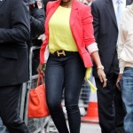 Styling On Them Hoes: Mary J Blige & Chris Brown's Girlfriend Karrueche Tran Color Blocking Outfits