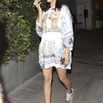 Good Girl Going Bad: Rihanna Rocking $225 Adidas x Jeremy Scott Leopard Sneakers & $185 Shoe Memory Tee