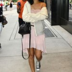 Making A Fashion Statement In New York City: Rihanna & Her NIPPLES Shopping In Soho