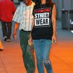 Looking Like A Bag Of Money: Rihanna Rocking Air Jordan XII 'Playoffs', Ripped Jeans & Sweat-Shirt