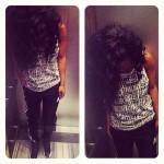 Making A Fashion Statement: Teyana Taylor Rocking Air Jordan XII 'Playoffs', Adidas Track Pants & Rocksmith Tank-Top