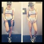 """I So Love Her Harlem Style: Teyana Taylor Rocking Air Jordan Retro 12 """"Obsidian"""" With A NY Fitted & Daisy Dukes"""