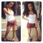 "Looking Dope Girl Fresh: Teyana Taylor Rocking Air Jordan 3 ""Black/Cement Grey"" With Daisy Dukes & A Tee-Shirt"
