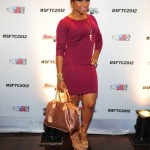 Styling On Them Hoes: Toya Wright In $789 Yves Saint Laurent Tribute Sandals & A Burgundy Dress
