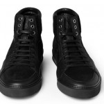 Currently Obsessed With: $525 Yves Saint Laurent Black Suede & Leather Trim High Top Sneakers