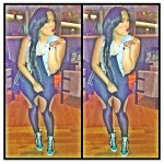 Girl You Be Killin Em: Emily B Wearing $650 Giuseppe Zanotti Multicolored High Top Wedge Sneakers