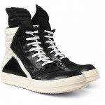 Dope Or Nope? $1,210 Rick Owens Long Tongue Panelled Leather High-Top Sneakers