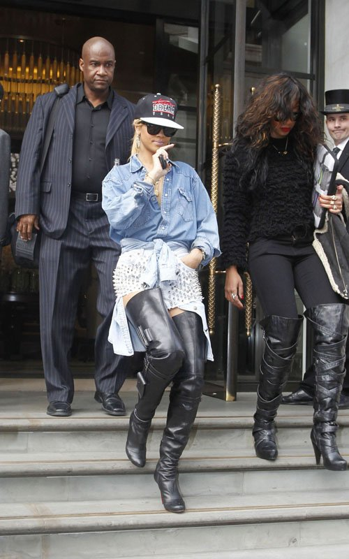 2b32f7feb8b5 Styling On Them Hoes  Ciara In Christian Louboutin Boots · Celebs Style   Rihanna