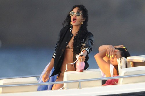 Yacht Life Living Rihanna Pops Bottles Of Ace Of Spade On