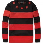 Fall/Winter 2012 Style: $560 Givenchy Star Striped Red & Black Cotton Jersey Sweater