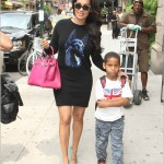 Lala Anthony Spotted In Manhattan Carrying A Birkin Bag And Wearing A $1,095 Balenciaga Dress & Christian Louboutin Pumps