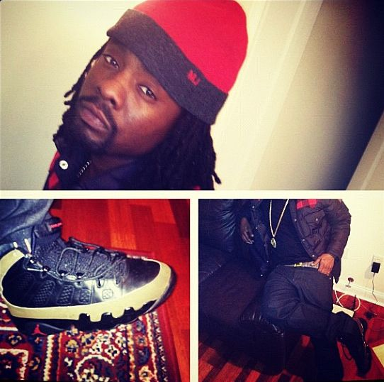 492c6d3be9b6 Sneaker Me Dope  Wale Rocking Air Jordan IX  Olive  – dmfashionbook.com