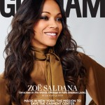Zoe Saldana Covers Gotham Magazine's September 2012 Issue In A Givenchy Satin Jumpsuit