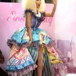 Nicki Minaj Took Her 'Pink Friday' Fragrance To Australia In A Duffled Dress & Color-Blocked Heels