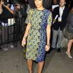 Solange Knowles Attends The 'GWOTYA' In A Printed Dress From Derek Lam's Spring 2013 Collection