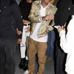 Who Styled The Best? Tyga & Kanye West Wearing A $2,000 Dior Homme Snakeskin Print Jacket From 2006