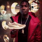 Meek Mill Wears A Moncler Hooded Parka & Hitboy Sports Balenciaga Sneakers