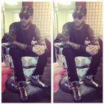 Swizz Beatz Rocking $825 Giuseppe Zanotti Zipped Leather High Top Sneakers & $150 Paislee Yee Dollar Pound Cap