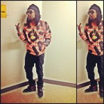 Wale Styling In A Marc By Marc Jacob Logo Sweater & Nike Air Yeezy 2 Sneakers