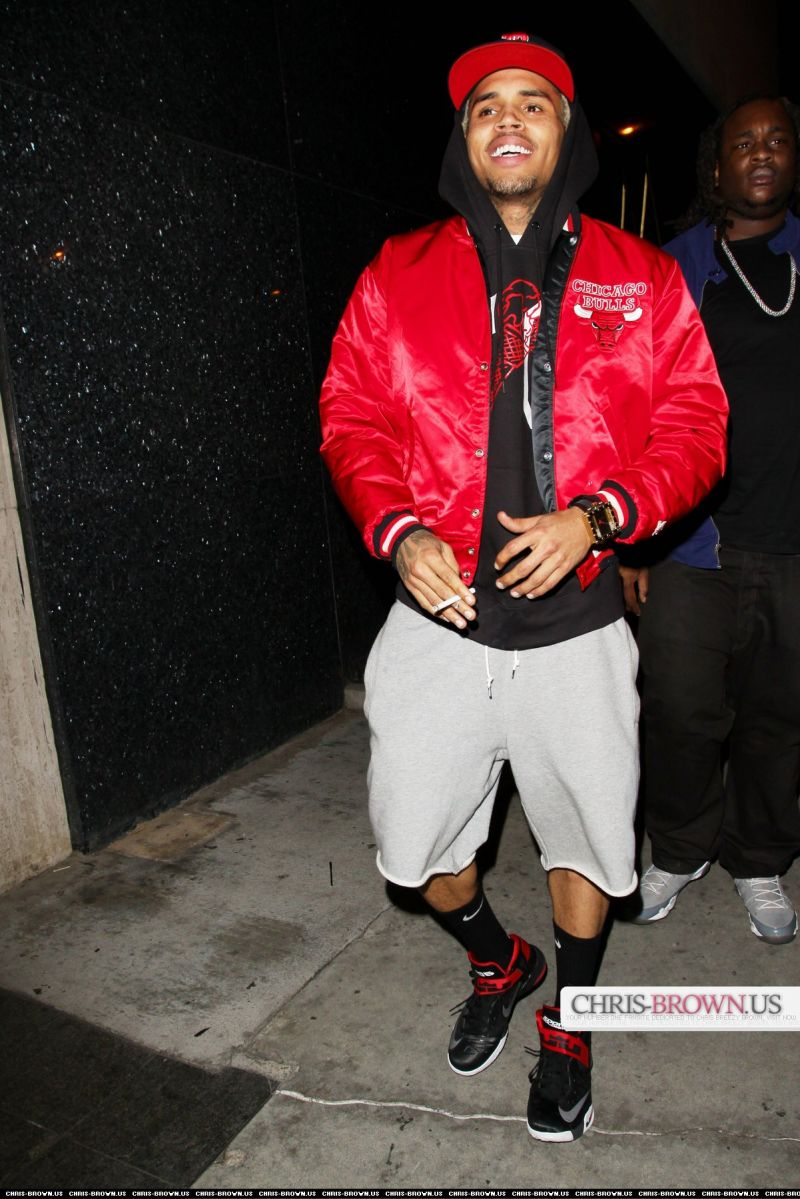 ba0d67eb3ac85e Chris Brown was recently spotted leaving Bootsy Bellows nightclub in West  Hollywood. For his night of partying