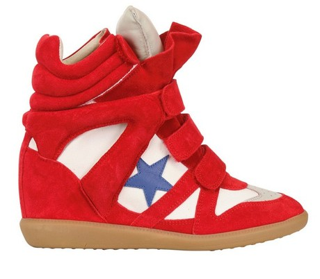 isabel-marant-red-80mm-bayley-suede-canvas-wedge-sneakers1