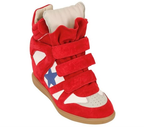 isabel-marant-red-80mm-bayley-suede-canvas-wedge-sneakers2