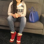 Lore'l From 'Love & Hip Hop' Wears $640 Isabel Marant Red 80mm Bayley Suede Canvas Wedge Sneakers
