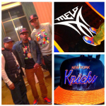 Fabolous Wearing Air Jordan Retro 1 High OG 'Knicks' & A $650 Just Don NY Knicks M&N Leather And Python Snapback