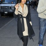 Meagan Good Spotted In Manhattan Wearing $1,075 Christian Louboutin Leopard Daffodile Pumps