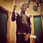 Meek Mill Wears A Dream Chasers Tee-Shirt & $535 Louis Vuitton Inventeur Damier Belt