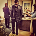 Meek Mill Looks Dapper In A Black Suit Paired With Balenciaga Arena Creased Yellow Leather Sneakers At The 'Hip-Hop Inaugural Ball II'