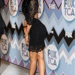 Nicki Minaj Wears $1,395 Christian Louboutin Zoulou Leather Platform Sandals & A Semi-Backless Lace Dress