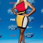 Nicki Minaj Styling In A $1,350 Hervé Léger Cutout Colorblock Bandage Dress & $1,295 Christian Louboutin Lady Daf Pumps