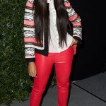 Angela Simmons Spotted At The Tracey Reese Fashion Shows