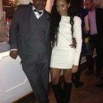 Angela Simmons Styles In $1,695 Givenchy Pre-Fall 2012 Textured- Leather-Fold Over Knee Boots