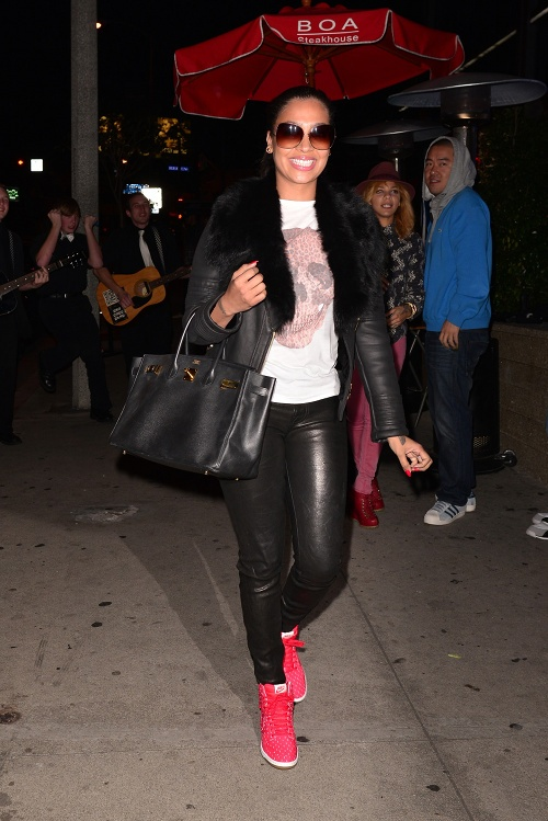 lala-anthony-boa-steakhouse-west-hollywood-alexander-mcqueen-skull-t-shirt-nike-wedge-sneakers