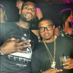 LeBron James Wears An Android Homme Eyes-Black Tee-Shirt