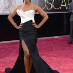 Kelly Rowland Looks Gorgeous At The 2013 Oscar Awards In Donna Karan
