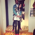 """New Couple Alert? Chanel Iman & A$AP Rocky Hugged Up In Matching Air Jordan 1 """"Bred"""""""