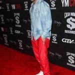 Male Celeb Fashion: Drake Wears Red En Noir Leather Sweatpants & Nike Air Force 1's