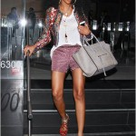 Fly Chic In Hollywood: Brandy Looking Flawless In A $1,030 Isabel Marant Quilted Jacket & Celine Bag