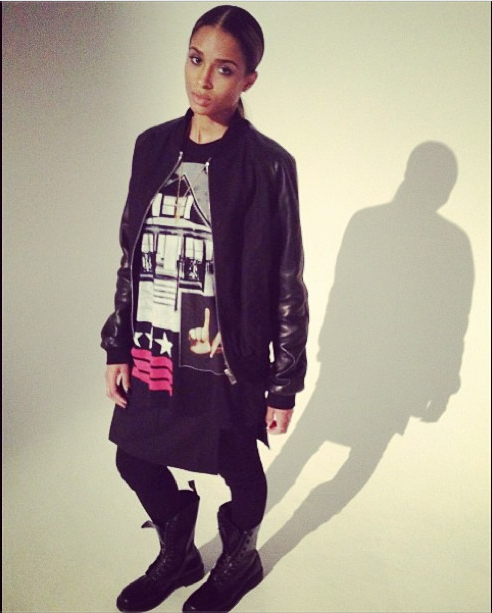 Ciara Sports A Tomboy Inspired Look In A 475 Givenchy La House