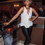 Keri Hilson Takes Vegas In $995 Narciso Rodriquez Bi-Color Multi-Strap Wedge Sandals