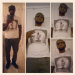 Dope Or Nope? Lebron James Wearing A $545 Givenchy White Hair 17 Madonna Print Cotton Tee-Shirt