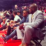 "Celebs Rocking Dope Kicks: Nas & LeBron James Wears Nike Barkley Posite Max ""Area 72″"
