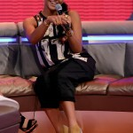 """Cassie Premieres """"Paradise"""" Visual On '106 & Park' In $1,095 Christian Louboutin Dufoura Color-Blocked Sandals"""