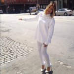 Ciara Dancing In The Streets Of NYC In A Givenchy Star Embellished Sweater & Christian Louboutin Batignolles Pumps